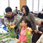 「啓翁桜」を使った親子フラワーアレンジ教室を見てきたんだっし!