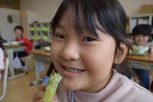 小学校給食で春の訪れ!! 『タラの芽』天ぷらを初めて食すの巻